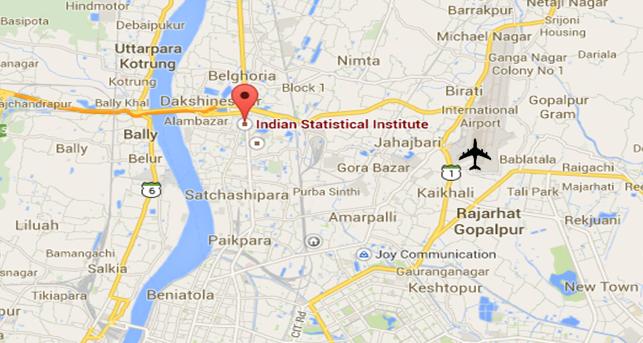 Map Kolkata Airport ICORS,2015